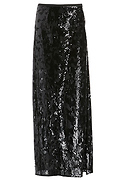 Line & Dot Linda Sequin Slit Skirt