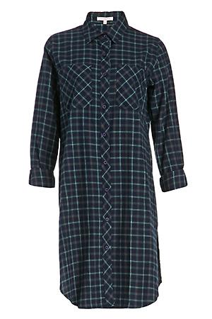 Lauren Plaid Cotton Shirt Dress Slide 1