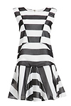J.O.A Patchwork Striped Dress