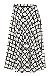 Arquette Flared Gridline Skirt