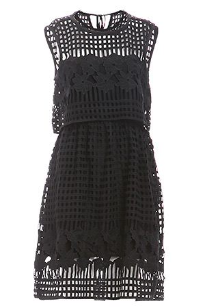 Saylor Lola Embroidered Lace Dress Slide 1