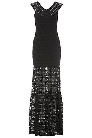 Nightcap Cherokee Diamond Gown In Black Dailylook