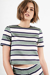 Sunset Sons Striped Short Sleeve Blouse