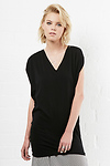 BOBI Cotton V-Neck Tunic Tee