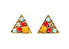 Sandy Hyun Crystal Triangle Earrings