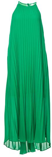 Line & Dot Pleated Maxi Dress Slide 1