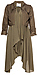 Line & Dot Flowy Trench Coat Thumb 1