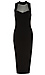 Sultry Mesh Panel Bodycon Dress Thumb 1