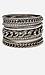 DAILYLOOK Chain Gang Bangle Bracelet Set Thumb 1