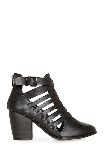 Chunky Heel Strappy Booties Slide 1