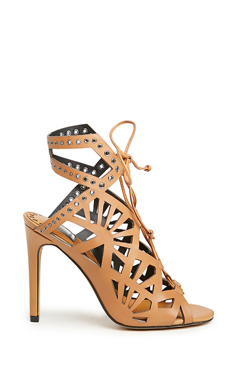 Dolce Vita Helena Leather Lace up Heels Slide 1