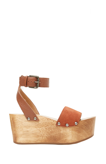 Kelsi Dagger Brooklyn Leather Willow Ankle Strap Platform Heel Slide 1