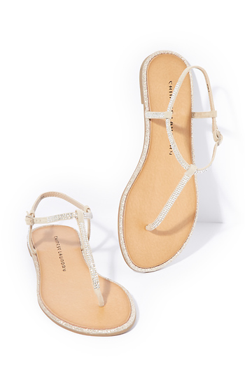 Chinese Laundry Glitterati T-Strap Sandals Slide 1