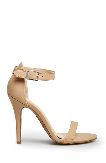 DAILYLOOK Simple Strap Heels in Nude | DAILYLOOK