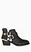 Metallic Cutout Ankle Boots Thumb 2