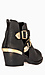 Metallic Cutout Ankle Boots Thumb 3