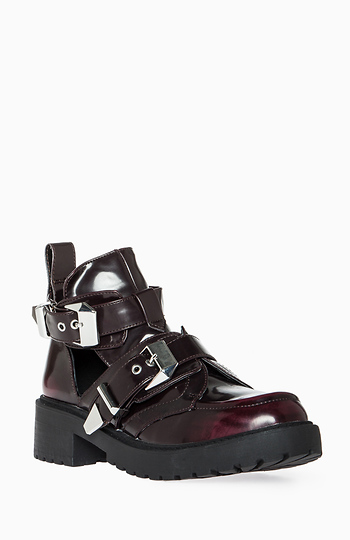 Utility Cutout Ankle Boots Slide 1