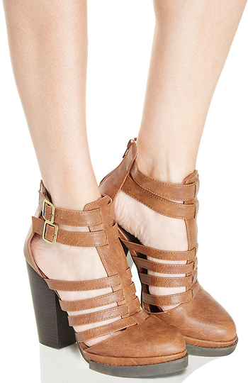 Caged Platform Booties Slide 1