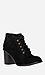 Chunky Heel Lace Up Booties Thumb 1