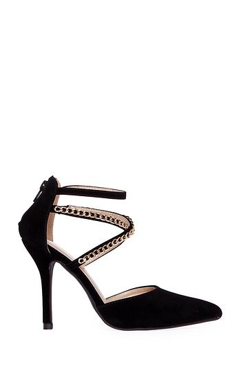 Chain Strap Heels Slide 1