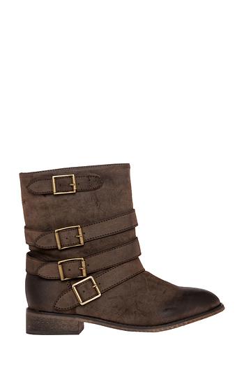 Quad Buckle Boots Slide 1