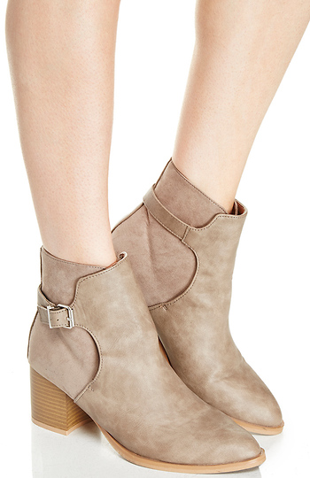 Chunky Heel Booties Slide 1