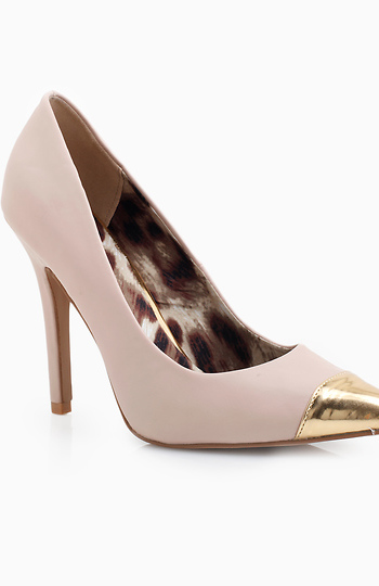 Metallic Pointed Toe Pumps Slide 1