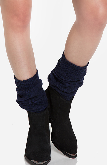 Cable Knit Leg Warmers Slide 1