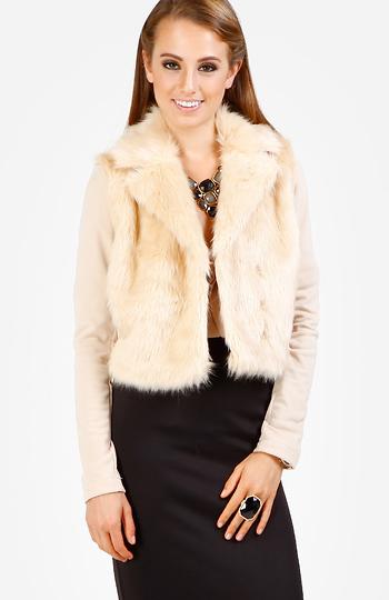Faux Fur Vintage Jacket Slide 1