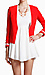 Red and White Trimmed Blazer Thumb 1