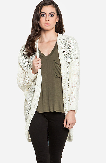 Oversized Dolman Sleeve Sweater Slide 1