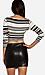 Striped Long Sleeve Crop Top Thumb 2