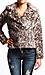 Leopard Faux Fur Coat Thumb 1