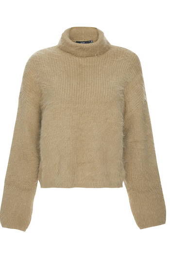 Vero Moda Eyelash Knit Roll Neck Sweater Slide 1