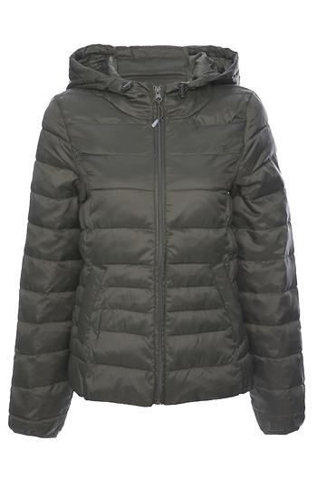 Quilted Short Hooded Jacket Slide 1
