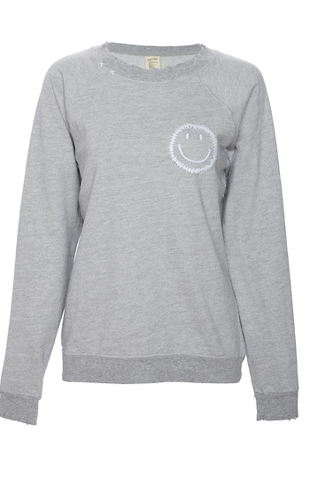 ISMBS Smiley Face Embroidered Sweatshirt Slide 1
