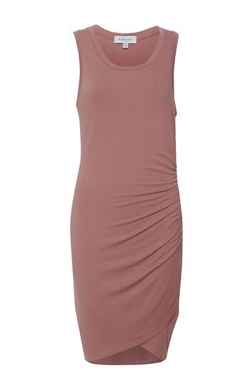Shirred Side Sleeveless Dress Slide 1