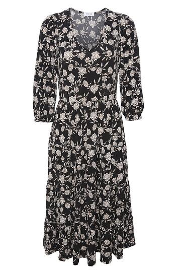 Elbow Sleeve Tiered Midi Dress Slide 1