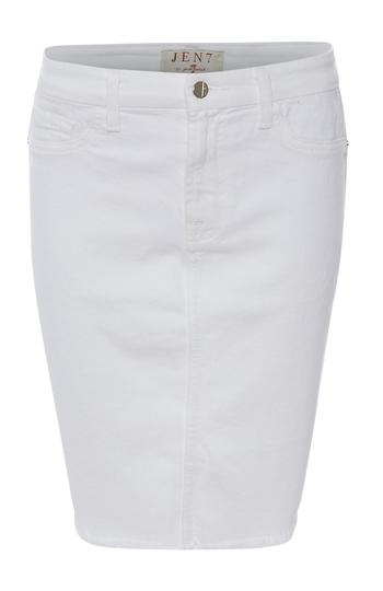 Jen 7 Pencil Skirt with Frayed Hem Slide 1