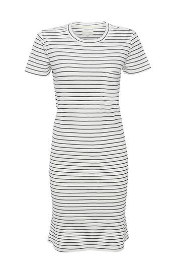 Thread & Supply Short Sleeve Striped Dress Slide 1