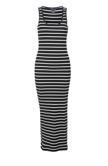 French Connection Striped Tank Dress Slide 1