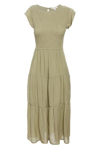 Flutter Sleeve Midi Dress Slide 1