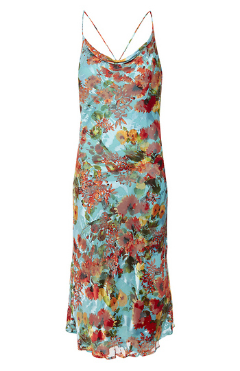 Willow & Clay Printed Slip Dress Slide 1