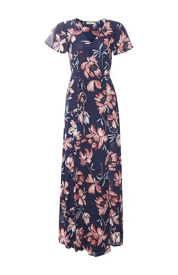 Short Sleeve Floral Maxi Dress Slide 1