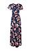 Short Sleeve Floral Maxi Dress Thumb 1