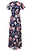 Short Sleeve Floral Maxi Dress Thumb 2