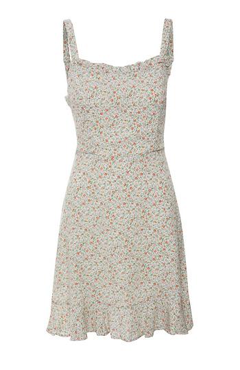 Sleeveless Floral Print Mini Dress Slide 1