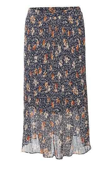 Floral Pleated Midi Skirt Slide 1