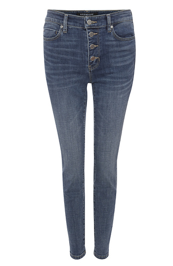 Liverpool Exposed Button Fly Ankle Skinny Slide 1