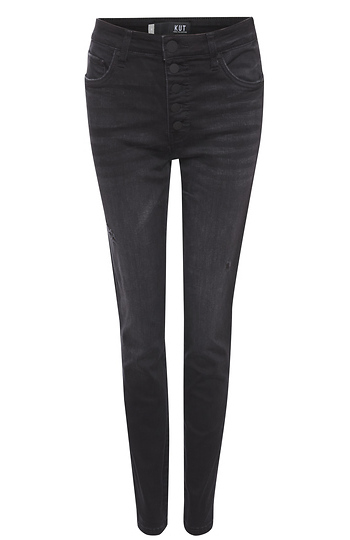 Kut From The Kloth Exposed Button Fly Skinny Jean Slide 1